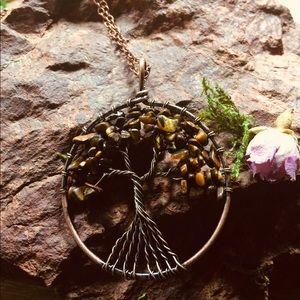 Tree of Life Jasper Gemstone Pendant